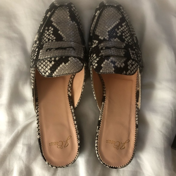 76b36ed55c2 J. Crew Shoes - JCrew—Academy Penny Loafer Mules Snakeskin